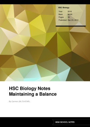 hsc biology maintaining a balance Maintaining a balance (hsc biology) letslearnscience 71 videos 122,018  views covers all syllabus dot points (and more) of the maintaining a balance.