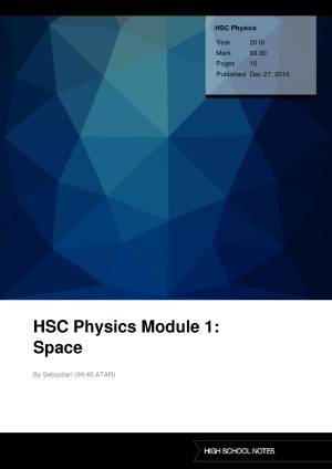 hsc physics notes space Space vii motors and generators ix from ideas to implementation xi  notes   motion of satellites 28 space dot point hsc physics vii space science.
